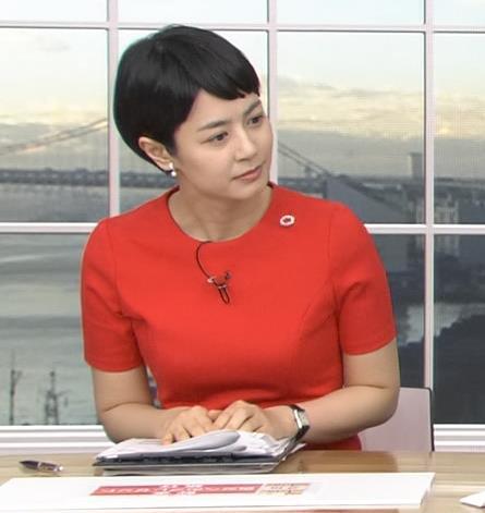 夏目三久 真っ赤なタイトなワンピースキャプ・エロ画像16