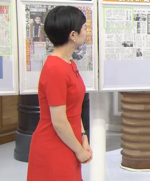夏目三久 真っ赤なタイトなワンピースキャプ・エロ画像5