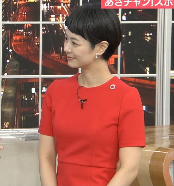 夏目三久 真っ赤なタイトなワンピースキャプ・エロ画像7