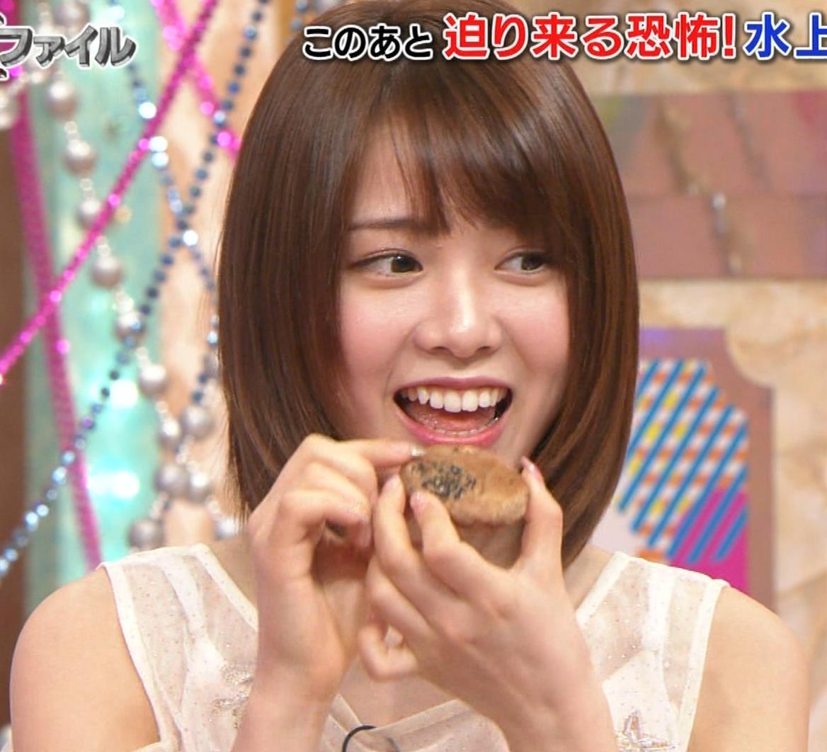 西村歩乃果 すごくかわいいアイドルの食べるところキャプ・エロ画像11