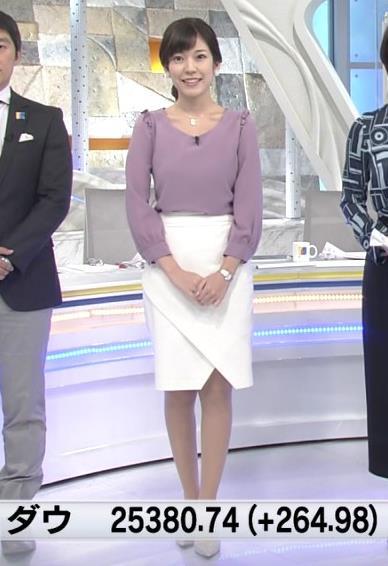 西野志海アナ 横乳&プリケツ!キャプ・エロ画像
