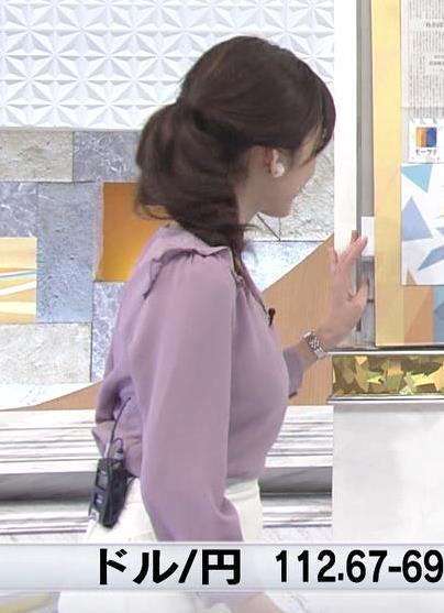 西野志海アナ 横乳&プリケツ!キャプ・エロ画像3