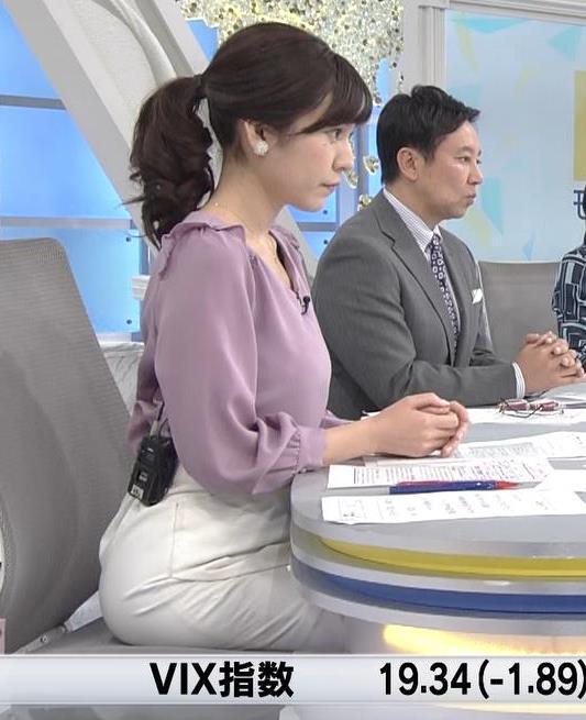 西野志海アナ 横乳&プリケツ!キャプ・エロ画像4