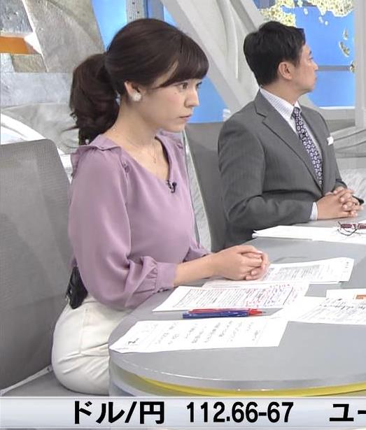 西野志海アナ 横乳&プリケツ!キャプ・エロ画像5