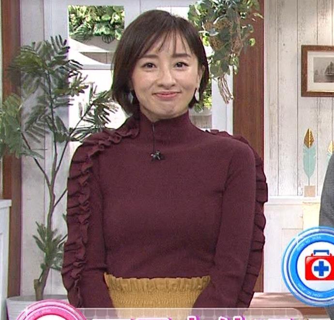 西尾由佳理 ニットおっぱいキャプ・エロ画像