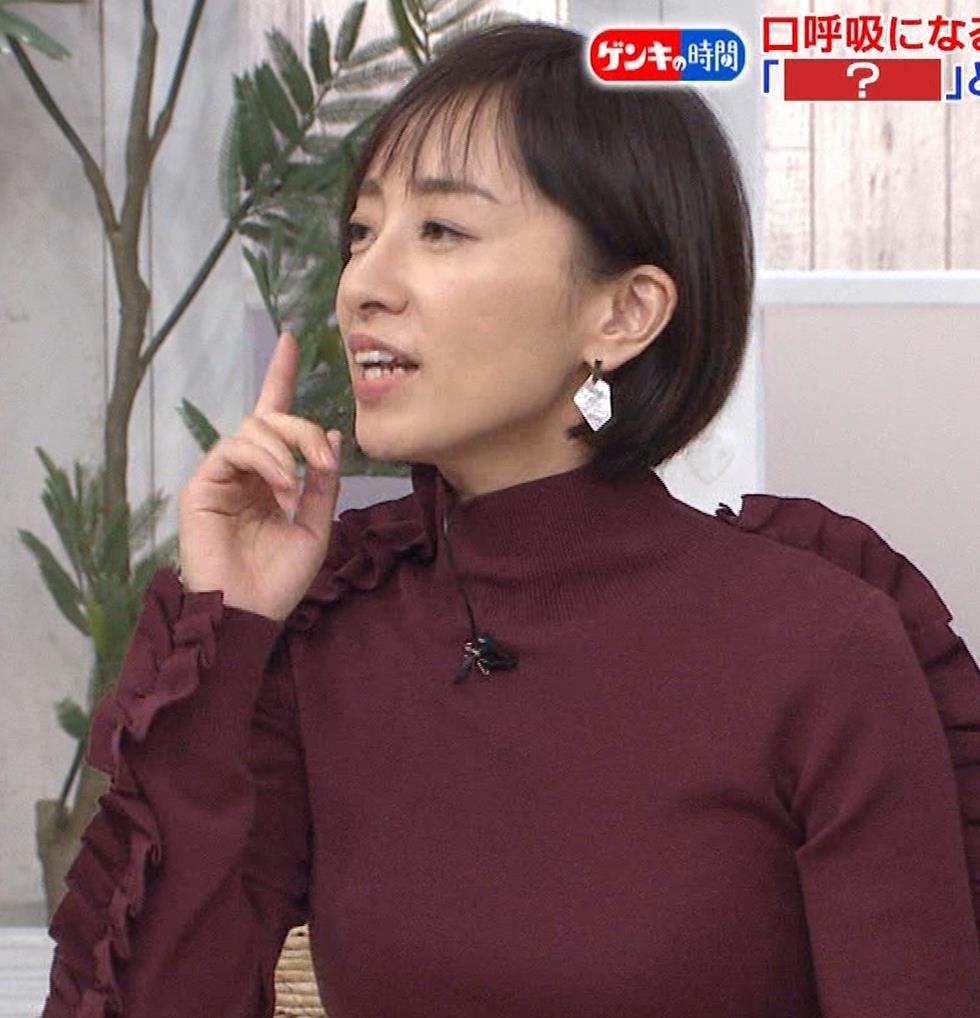 西尾由佳理 ニットおっぱいキャプ・エロ画像9