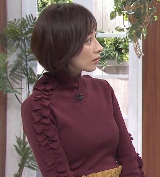 西尾由佳理 ニットおっぱいキャプ画像(エロ・アイコラ画像)