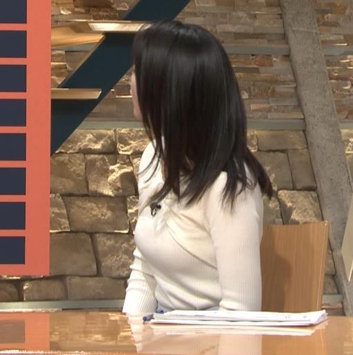 小川彩佳アナ ニット乳がエロ過ぎる回(報道ステーション)キャプ・エロ画像
