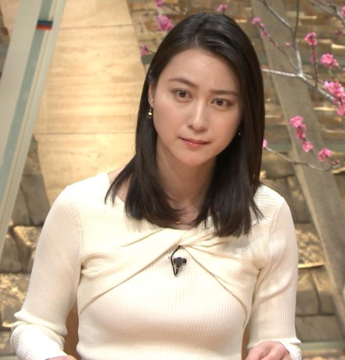 小川彩佳アナ ニット乳がエロ過ぎる回(報道ステーション)キャプ・エロ画像2