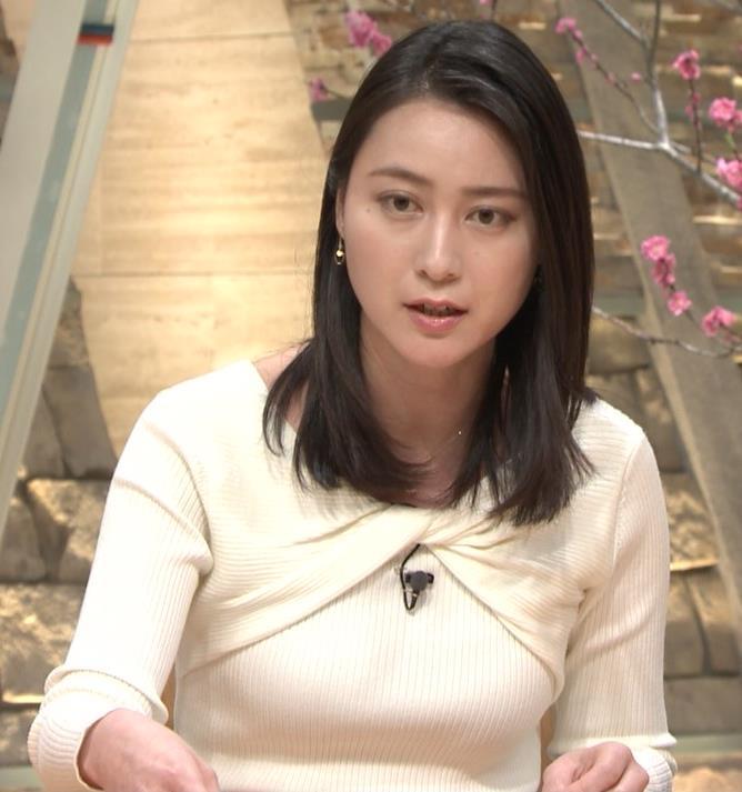 小川彩佳アナ ニット乳がエロ過ぎる回(報道ステーション)キャプ・エロ画像11