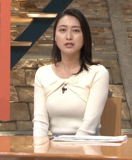小川彩佳アナ ニット乳がエロ過ぎる回(報道ステーション)キャプ・エロ画像3