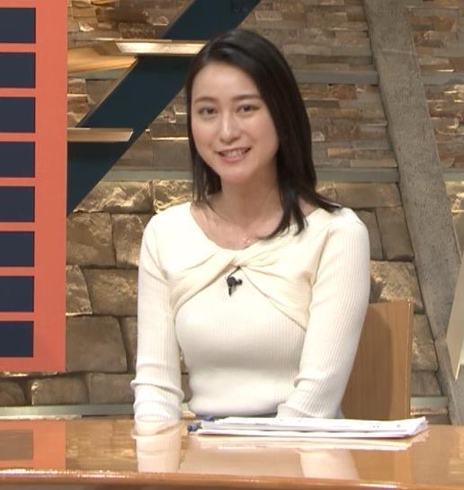 小川彩佳アナ ニット乳がエロ過ぎる回(報道ステーション)キャプ・エロ画像4