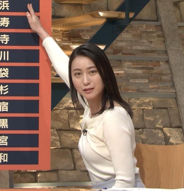 小川彩佳アナ ニット乳がエロ過ぎる回(報道ステーション)キャプ・エロ画像5