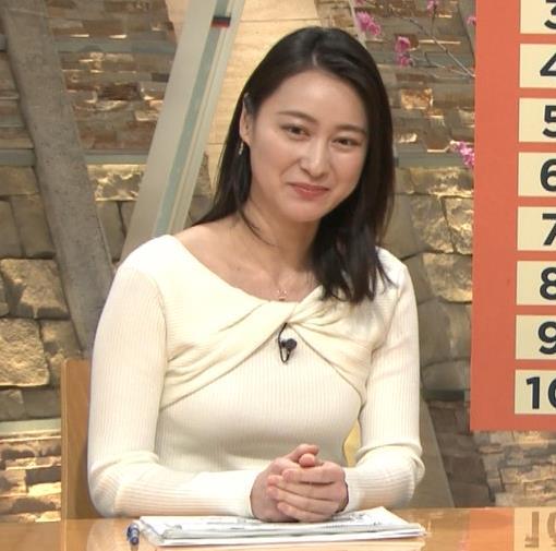 小川彩佳アナ ニット乳がエロ過ぎる回(報道ステーション)キャプ・エロ画像7