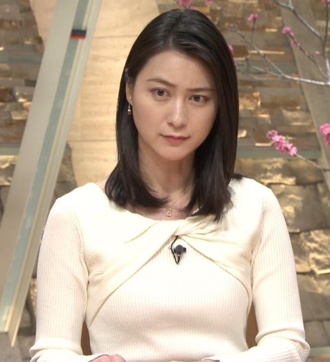 小川彩佳アナ ニット乳がエロ過ぎる回(報道ステーション)キャプ・エロ画像10