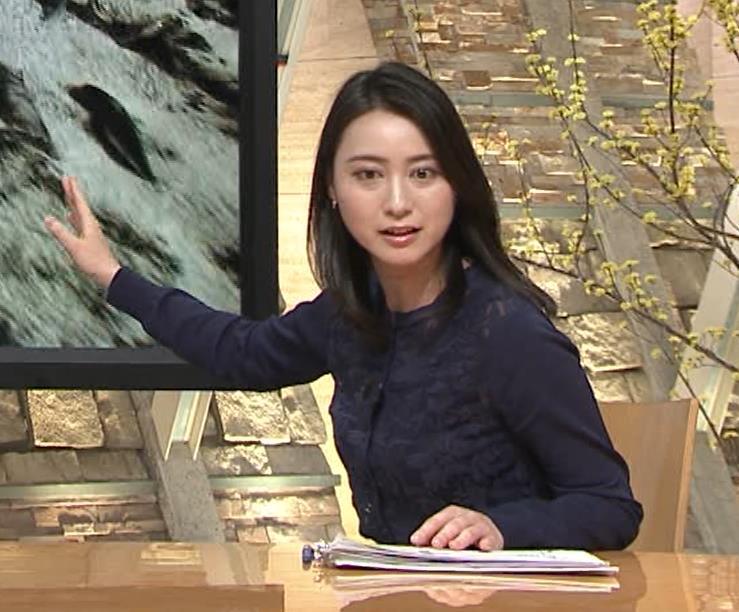 小川彩佳アナ スカートみたいなパンツスタイルキャプ・エロ画像6