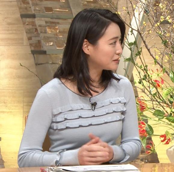 小川彩佳アナ 久しぶりにおっぱいがクッキリしてエロかったキャプ・エロ画像4