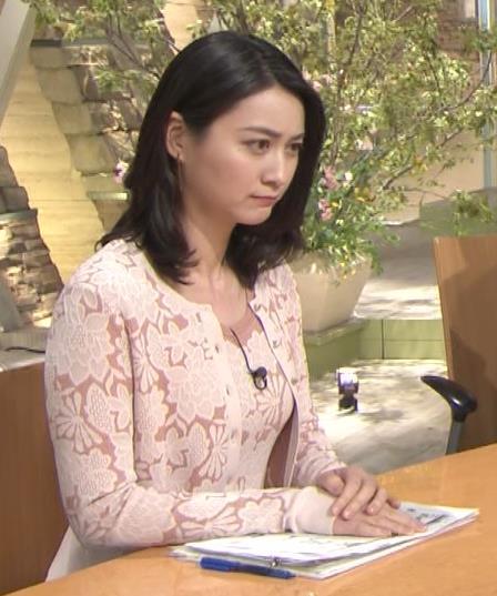 小川彩佳アナ パンツ見えそうだし、おっぱいエロいし…キャプ・エロ画像8