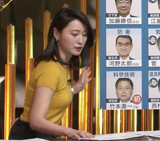 小川彩佳アナ ピチピチ衣装の横乳キャプ・エロ画像3