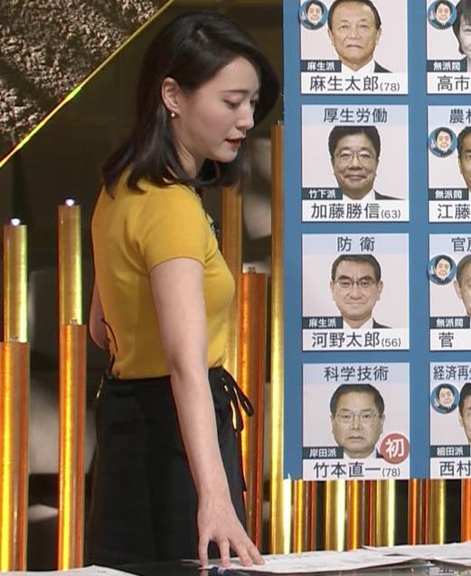小川彩佳アナ ピチピチ衣装の横乳キャプ・エロ画像4