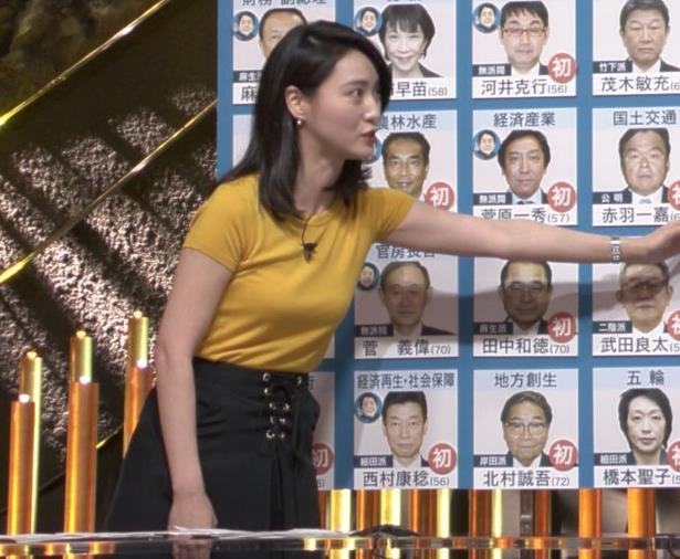 小川彩佳アナ ピチピチ衣装の横乳キャプ・エロ画像5