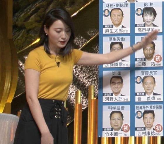 小川彩佳アナ ピチピチ衣装の横乳キャプ・エロ画像7