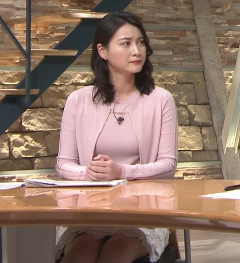 小川彩佳アナ おっぱいも▼ゾーンもエロかったキャプ・エロ画像2