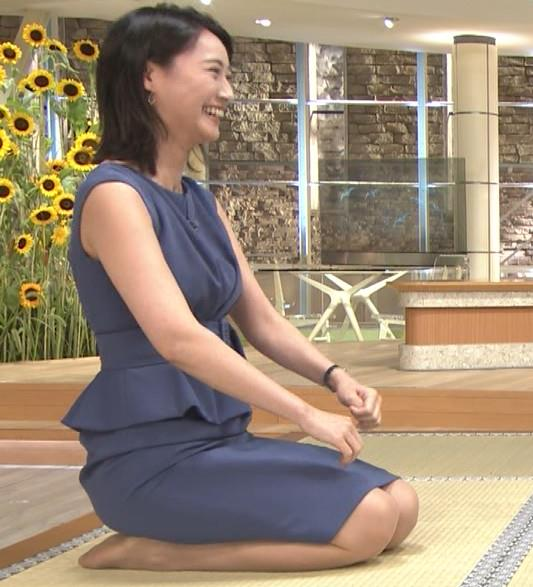 小川彩佳アナ スカートでの正座がエロいキャプ・エロ画像4