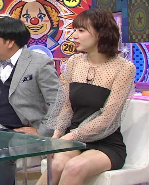 岡田紗佳 またパンツが見えそうなミニスカートキャプ画像(エロ・アイコラ画像)