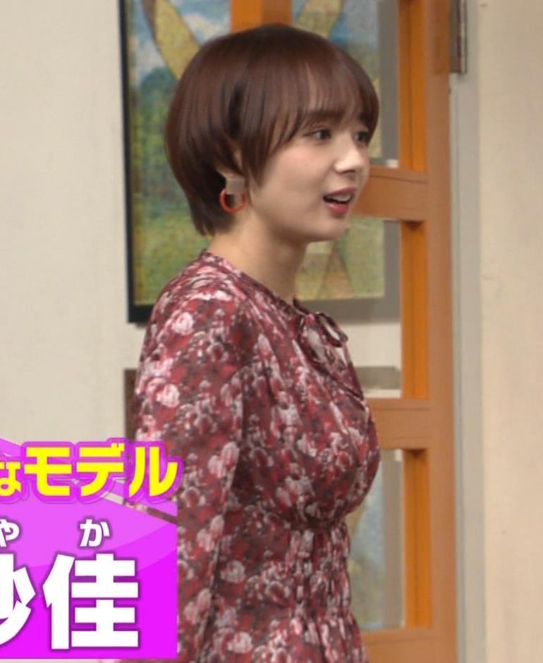 岡田紗佳 ワンピース横乳キャプ・エロ画像