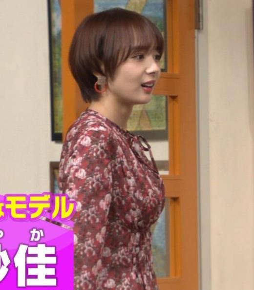 岡田紗佳 ワンピース横乳キャプ画像(エロ・アイコラ画像)