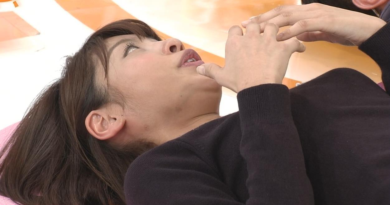 岡副麻希 寝っ転がっておっぱいのお山がふたつキャプ・エロ画像7