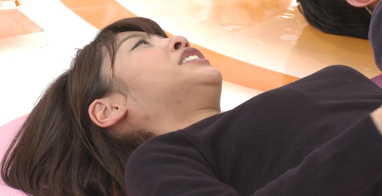 岡副麻希 寝っ転がっておっぱいのお山がふたつキャプ・エロ画像8