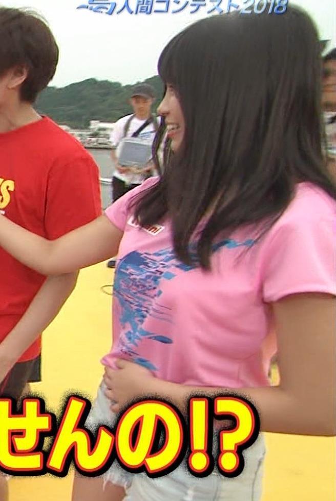 Tシャツ横乳&短パン太ももキャプ・エロ画像3