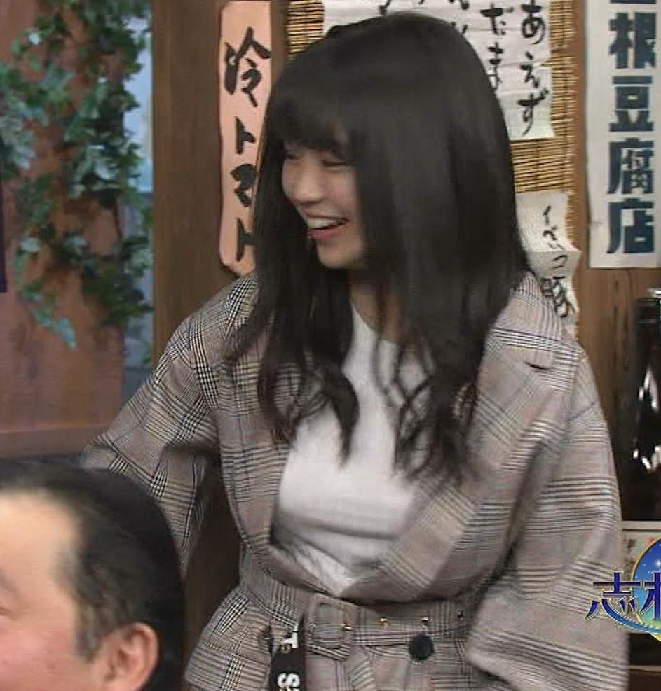 大原優乃 巨乳でTシャツがパツパツ 「志村の夜」キャプ・エロ画像2