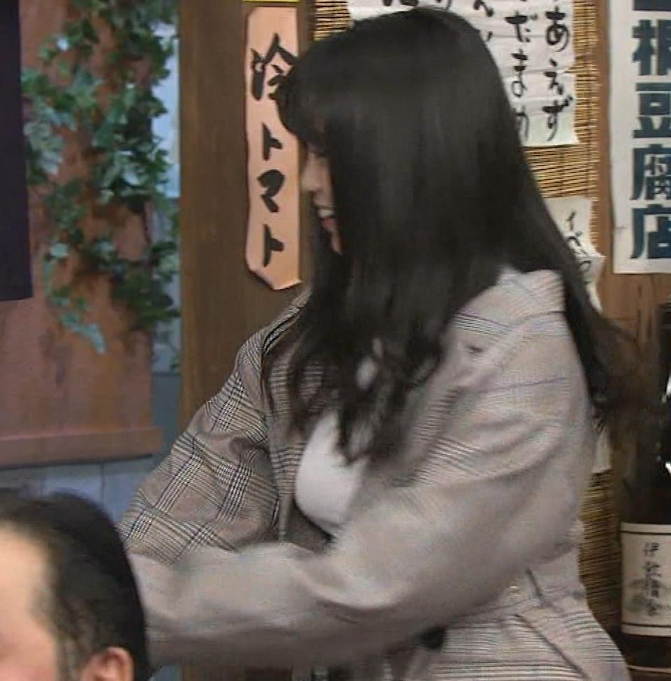 大原優乃 巨乳でTシャツがパツパツ 「志村の夜」キャプ・エロ画像3