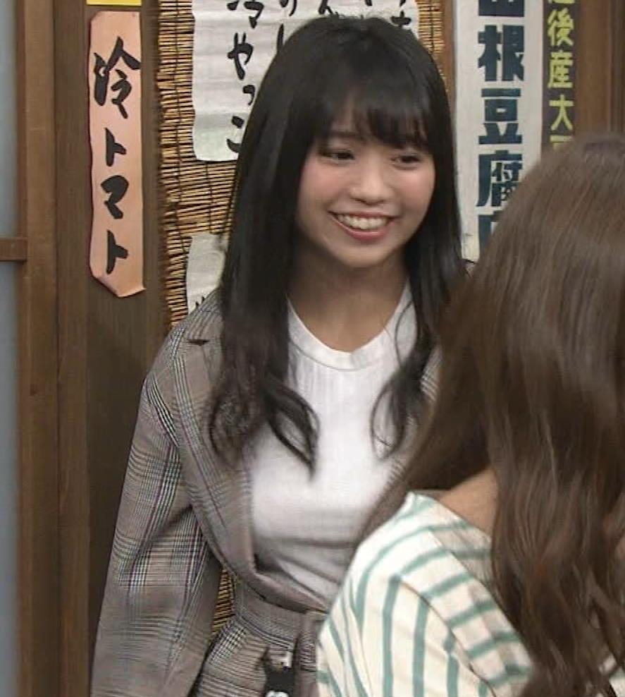 大原優乃 巨乳でTシャツがパツパツ 「志村の夜」キャプ・エロ画像4