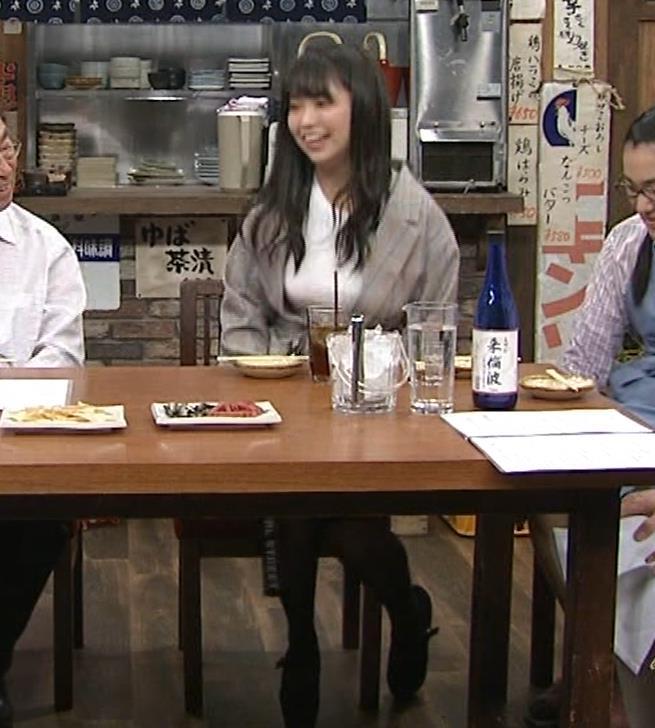 大原優乃 巨乳でTシャツがパツパツ 「志村の夜」キャプ・エロ画像7