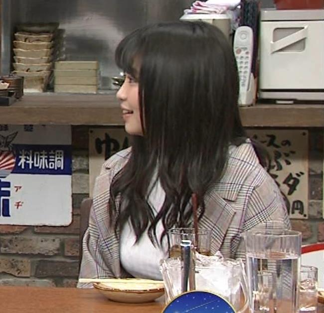 大原優乃 巨乳でTシャツがパツパツ 「志村の夜」キャプ・エロ画像8