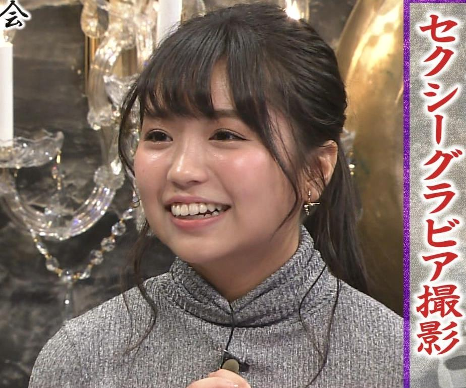 大原優乃 元Dream5の巨乳ニット&セーラー服&ビキニおっぱいキャプ・エロ画像5