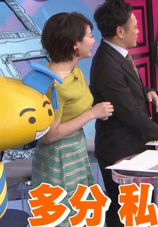 大橋未歩アナ オフショルのニット巨乳キャプ・エロ画像5