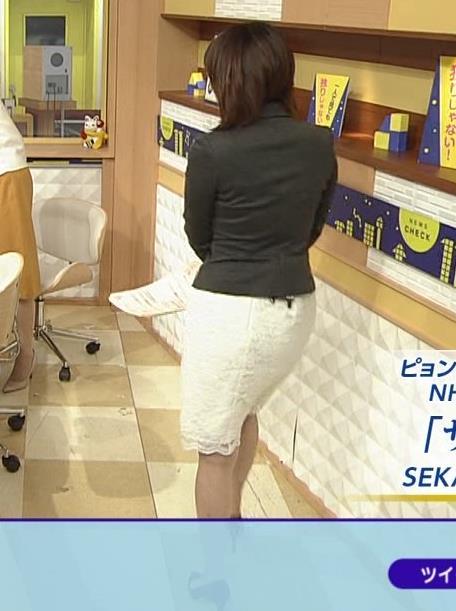 大成安代アナ タイトめなスカートのお尻キャプ・エロ画像