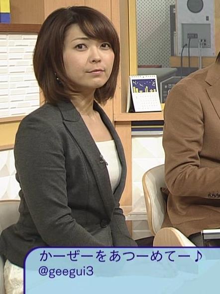 大成安代アナ タイトめなスカートのお尻キャプ・エロ画像9