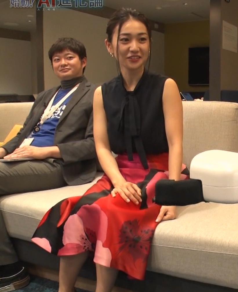 大島優子 BS番組での横乳キャプ・エロ画像15