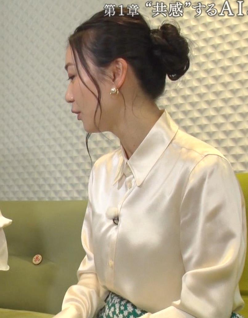 大島優子 BS番組での横乳キャプ・エロ画像4
