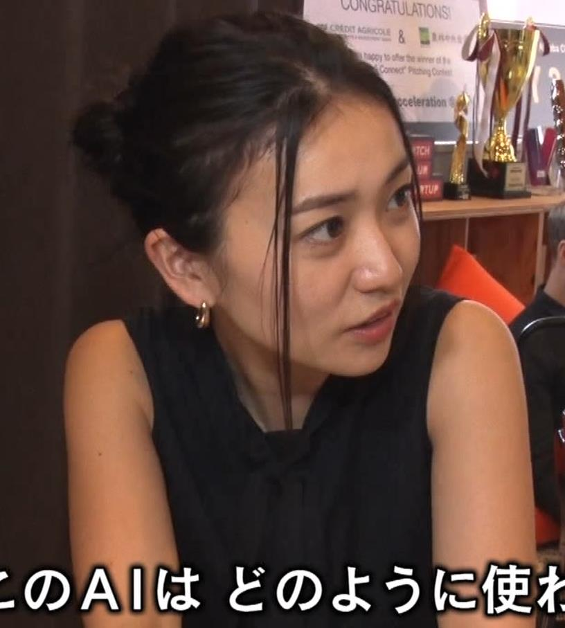 大島優子 BS番組での横乳キャプ・エロ画像8
