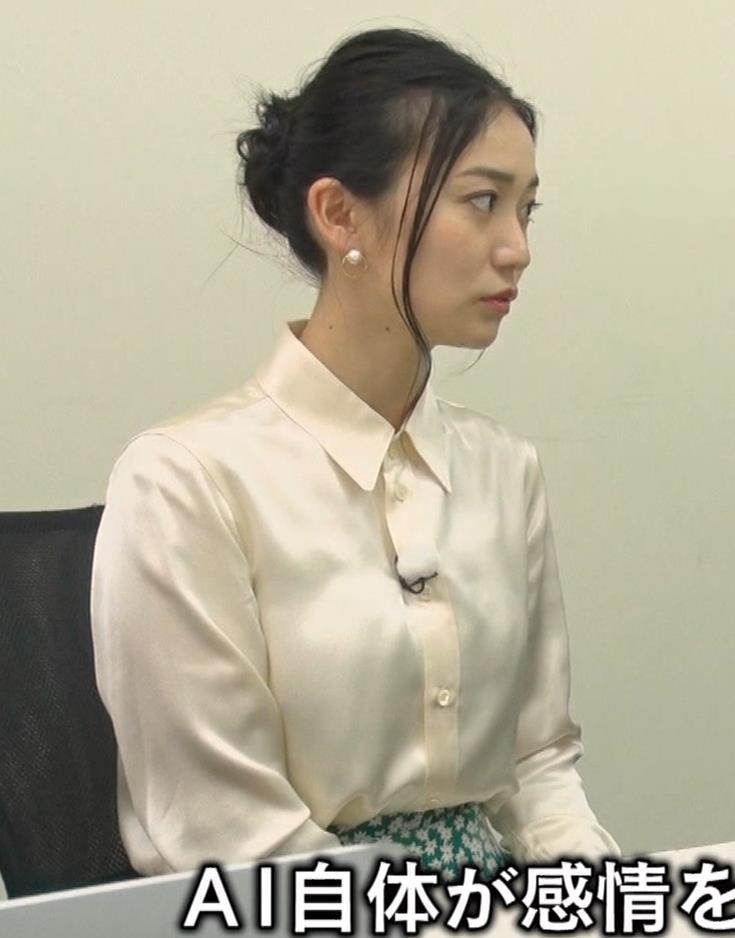 大島優子 BS番組での横乳キャプ・エロ画像9