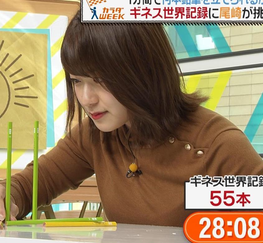 尾崎里紗アナ ムッチリ系女子アナキャプ・エロ画像4