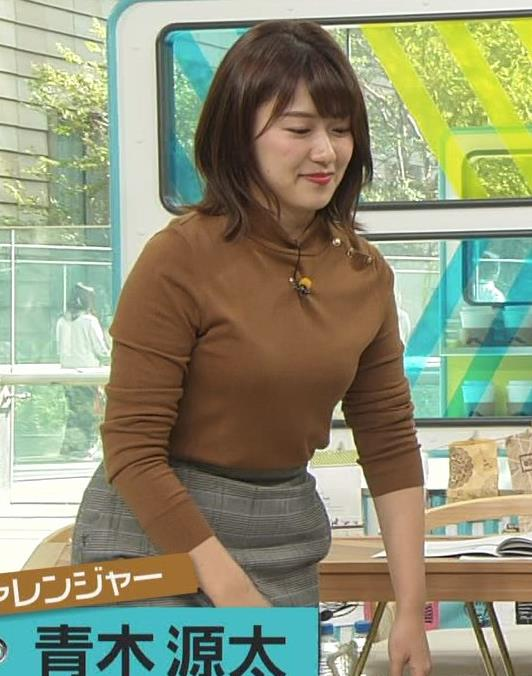 尾崎里紗アナ ムッチリ系女子アナキャプ・エロ画像5