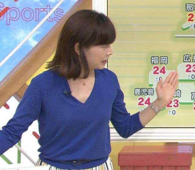 尾崎朋美 緩めのニットおっぱいキャプ・エロ画像